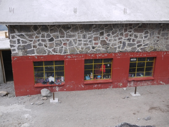 The Piedra Grande hut at 14,000'